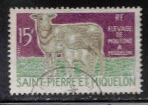 ST PIERRE & MIQUELON Scott # 404 Used - Sheep & Lamb