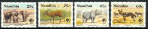 NAMIBIA 1993 ENDANGERED ANIMALS Set Sc 726-729 MNH ELEPHANTS