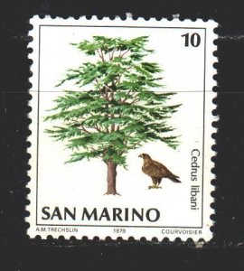 San Marino. 1979. 1189 from the series. Trees. MNH.