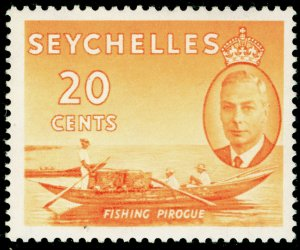 SEYCHELLES SG163, 20c orange-yellow, NH MINT.