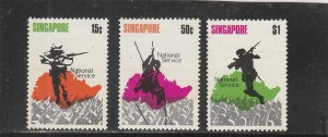 Singapore  Scott#  119-121  MH  (1970 National Military Service)