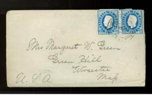 1894 Angola Missionary Cover to USA with 5 page letter from William E. Fay