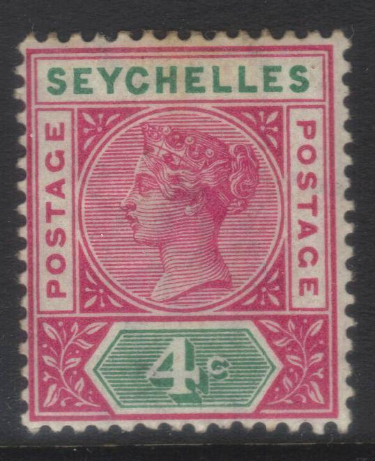 SEYCHELLES 1890-1892 CROWN CA SG2 M/M CAT £48