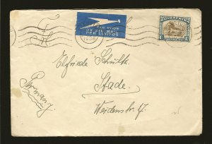 South Africa 43 Gnu on Postmarked Capetown 1936 Air Mail Cover Used