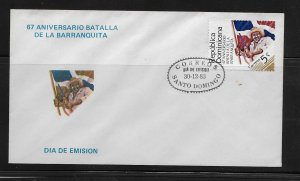DOMINICAN REPUBLIC STAMP COVER #SEPTG9