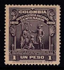 Colombia 1910 1p Dark Violet Centenary M Mint. Scott 337
