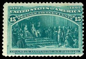 U.S. COLUMBIAN ISSUE 238  Mint (ID # 73519)