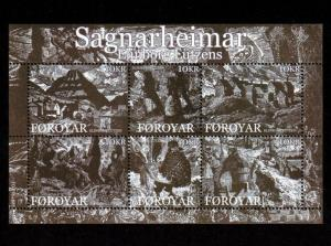 Faroe Islands – Souvenir Sheet Scott #499 Mint (Art)