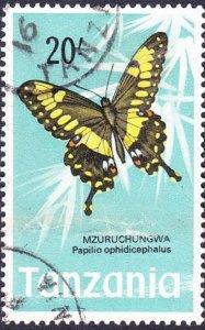 TANZANIA 1973 QEII 20/- Multicoloured SG172 Fine Used