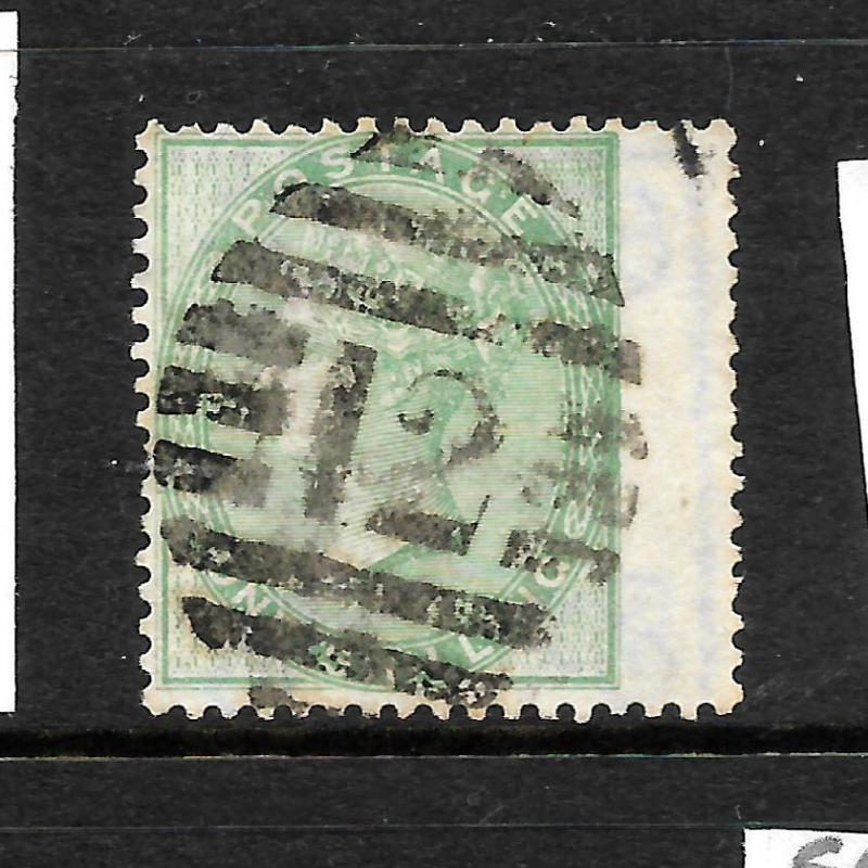 GREAT BRITAIN  1855-57  1/-   GREEN  QV   FU    SG 72