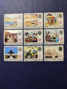 Seychelles 257,260-261,262A-263,264A,265A-267 VF, CV $18