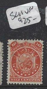 BOLIVIA  (P1606B)    SC 11    VFU