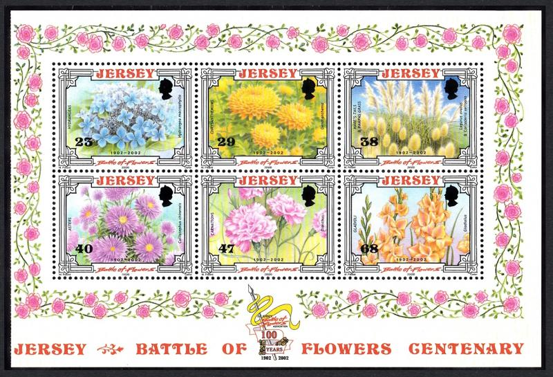 Jersey Centenary of 'Battle of Flowers' Parade Booklet Pane T1 SG#1053a
