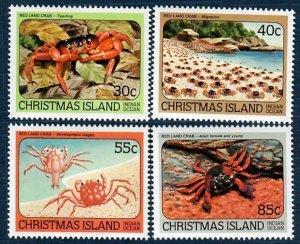Christmas Island 148-151 MNH Crabs (SCV $1.90)