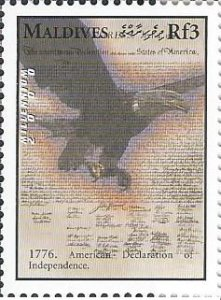 Maldive Islands 2421a (mnh) 3r American Declaration of Independence (2000)