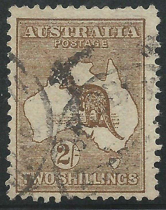 Australia Scott #11 Used Kangaroo Stamp Wide A CV $140