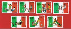 Guinea-Bissau #780-786 VF used  Soccer Championships Free S/H