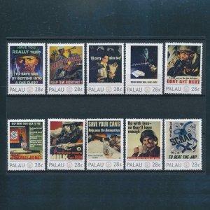 [106652] Palau  World War I propaganda posters  MNH