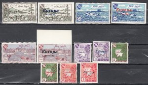 Herm Island, Sc 18 & 28, MNH, 1960-1961, Europa Perf & Imperf