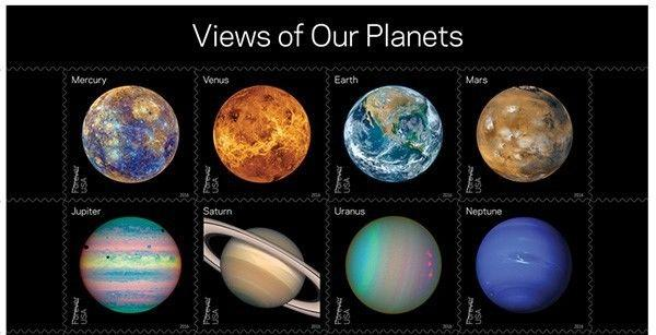 2016 47c Views of Our Planets, Block of 8 Scott 5069-76 Mint F/VF NH