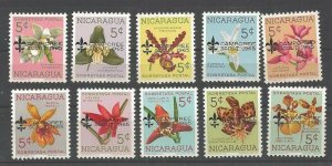 1965 Boy Scouts Nicaragua orchid flowers overprint Camporee