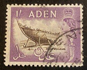 Aden Scott 55A QEII One Schilling-Used
