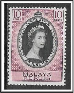 Malaya-Perlis #28 Coronation Issue MNH