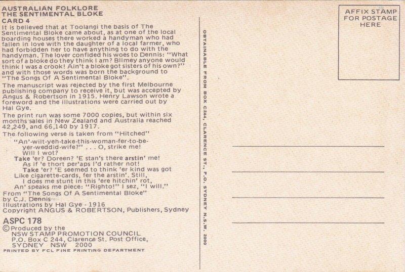 MXC86) Australia 1983, Maxicards, The Sentimental Bloke, set of 5,