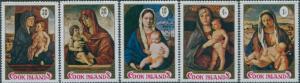 Cook Islands 1971 SG365-369 Christmas set MLH