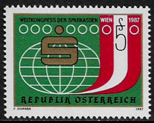 Austria #1408 MNH Stamp - Savings Banks