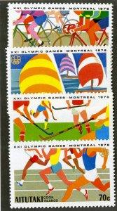 AITUTAKI 127-30 MNH SCV $2.55 BIN $1.25 OLYMPICS