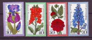 J20750 Jlstamps 1976 berlin germany set mnh #9nb128-31 flowers