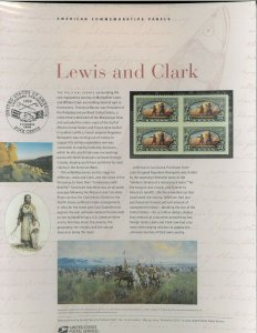 USPS COMMEMORATIVE PANEL #710 LEWIS AND CLARK #3854