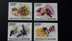 Burundi 2011. - Bees ** MNH complete set (perforated)