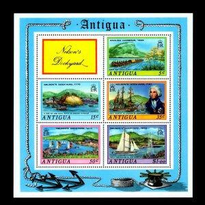ANTIGUA - 1975 - NELSON'S DOCKYARD - SHIP - CANOE - YACHTS - MINT MNH S/SHEET!