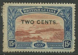 STAMP STATION PERTH British Guiana #158 - Surcharged MH Wmk 1 CV$5.00