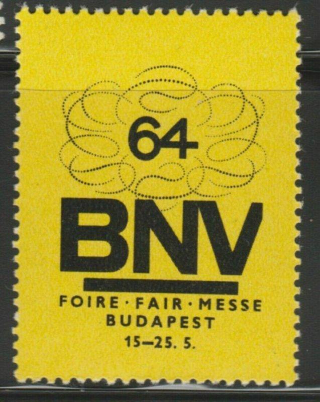 1964 Budapest Cinderella Poster Stamp Reklamemarken A7P4F811