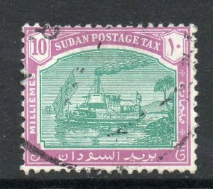 South Sudan 1948 KGVI Postage Due 10m Gunboat wmk multi SG, SG D14 used