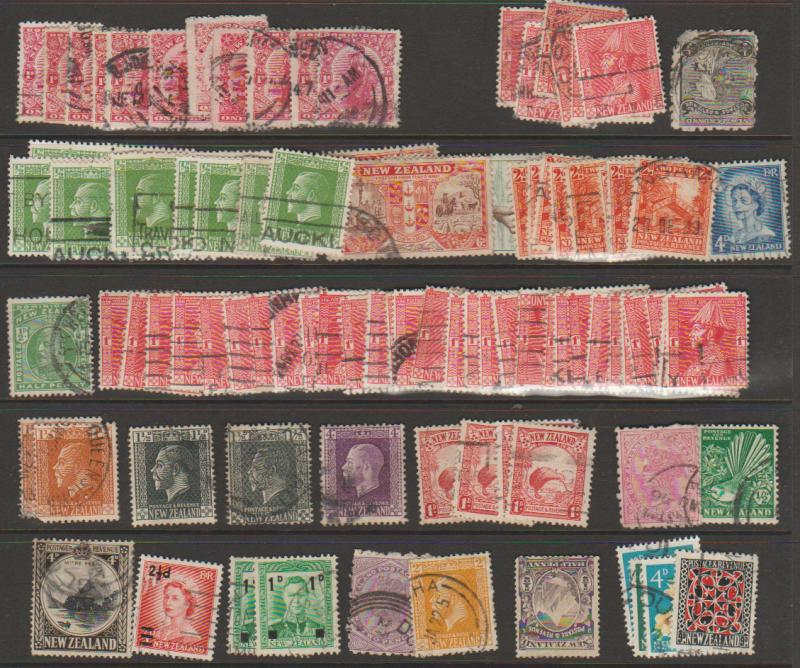 New Zealand - completely unchecked selection of 90+ mixed condition see scan ...