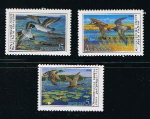 Russia MNH 5906-8 Ducks SCV 1.35