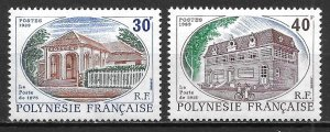 French Polynesia 501-2 1989 Post Office set NH