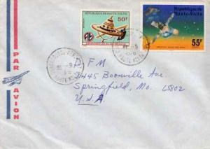 French West Africa, Airmail, Space