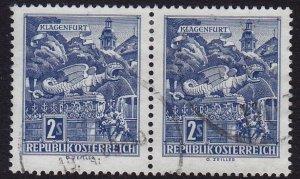 Austria - 1968 - Scott #696 - used pair - Klagenfurt
