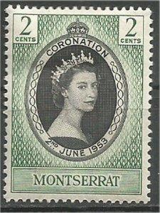 MONTSERRAT,1953, MH, 2c, Coronation Scott 127