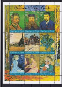 vincent van gogh  mint never hinged stamps sheet  ref r14324