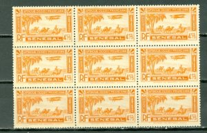 SENEGAL AIR #C8 UNFOLDED  BLK of 9...MNH...$9.00