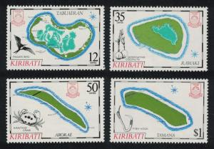 Kiribati Island Maps 4th series 4v SG#237-240 SC#456-459