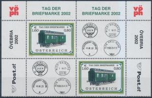 Austria stamp Stamp Day corner coupon pair MNH 2002 Mi 2380 WS193570