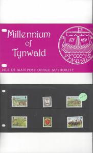 Isle of Man 146-51 Millennium of Tynwald 1979 MNH Presentation Pack