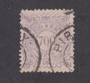 Brazil Sc 97 used 1888 700r violet Numeral, perf 13 VF